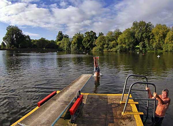 Walk swim round Hampstead Heath