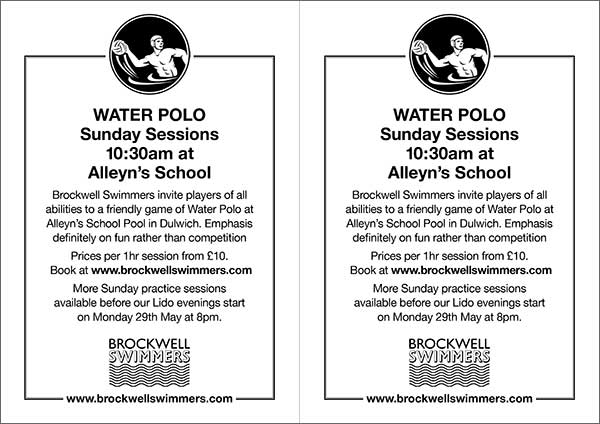 More Water Polo Players Please Brockwell Swimmers