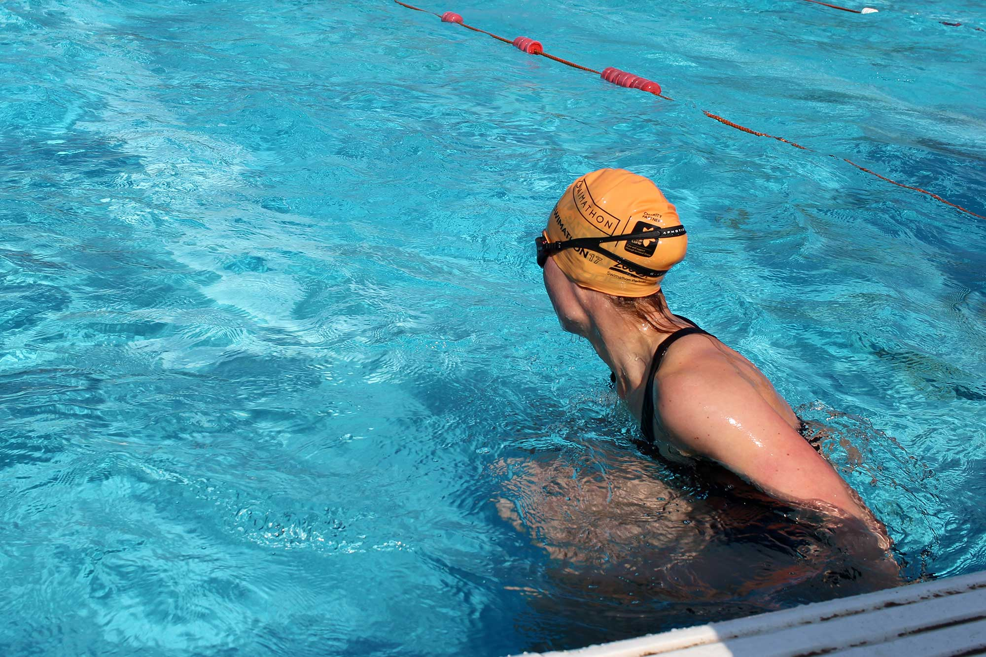 Brockwell Lido swimathon17_anne